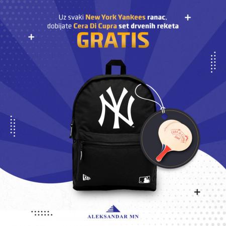 New York Yankees New Era Ranac + Cera Di Cupra set drvenih reketa GRATIS