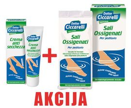 Dottor Ciccarelli krema 50 ml + so za stopala 400 g - Akcija