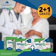 Optimum D3 2000 IU FORTE vitamin D3, 2 + 1 Gratis