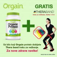 Orgain organski biljni proteini u prahu + poklon Thera Band traka