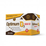 Optimum D3 1000IU vitamin D, 60 kapsula