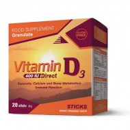Vitamin D3 400 IU DIRECT kesice vitamina D3, 20 kesica