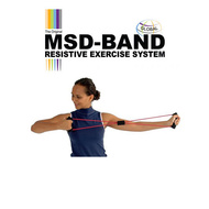 MSD dvostruka kružna, elastična traka za vežbanje, crvena