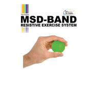 MSD silicone hand strengthening ball, green