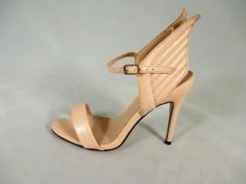 Sandale dama bej cu toc si aripi