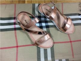 Sandale dama aurii metalizat