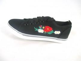 Tenisi dama negri cu floricele S46