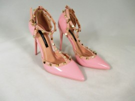 Pantofi dama roz cu toc