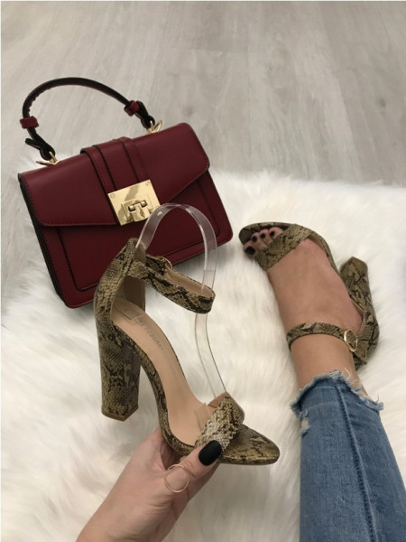 Sandale dama maro cu toc S40