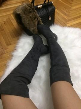 Cizme dama gri lungi
