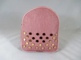 Rucsac ghiozdan roz cu capse