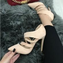 Pantofi dama bej cu toc