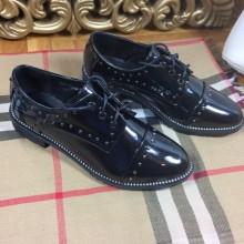 Pantofi negri de lac oxford