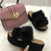 Papuci dama cu blana S7