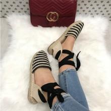 Sandale dama negre cu bej
