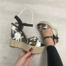 Sandale dama negre cu platforma S250