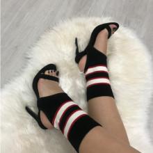 Sandale dama negre cu toc S111