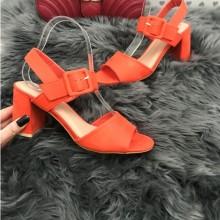 Sandale dama rosii cu toc mic