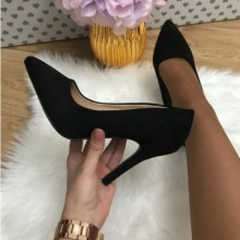 Pantofi dama negri stiletto cu toc