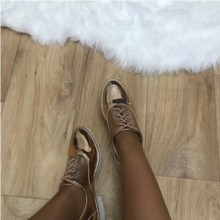 Pantofi dama oxford aurii