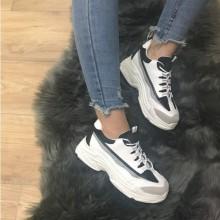 Adidasi dama albi cu negru