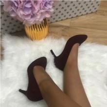Pantofi dama rosii bordo