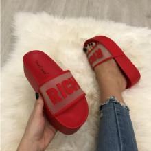 Papuci dama rosii cu platforma S172