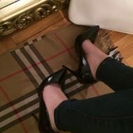 Pantofi dama negri cu toc stiletto