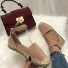 Sandale dama roz fara toc S41