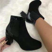 Cizme botine dama negre cu toc
