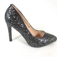 Pantofi dama negri cu sclipici