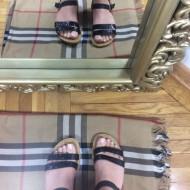 Sandale dama negre cu sclipici