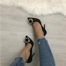 Pantofi dama negri cu toc