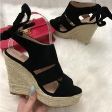 Sandale dama negre cu platforma S20