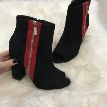 Sandale dama negre cu toc S94