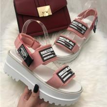 Sandale dama roz cu platforma S80
