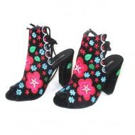 Sandale gen cizme de vara negre