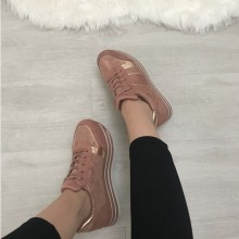 Adidasi dama roz cu platforma
