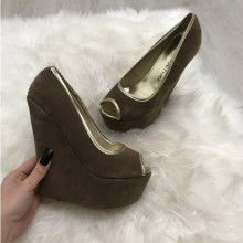 Pantofi dama maro cu platforma
