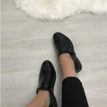 Pantofi dama negri oxford