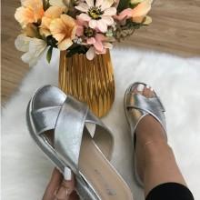 Papuci dama argintii