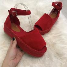 Sandale dama rosii cu platforma S99