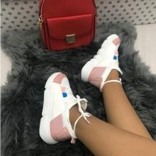 Adidasi dama albi cu roz