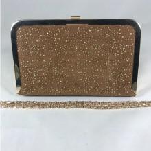 Clutch dama maro cu auriu S169