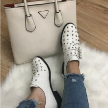 Pantofi dama albi