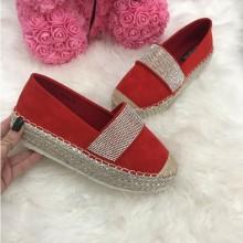 Pantofi espadrile dama rosii
