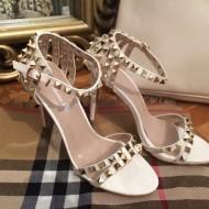 Sandale dama albe cu toc