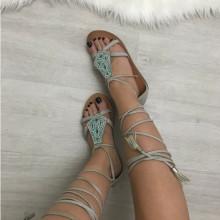Sandale dama gri gladiator S130