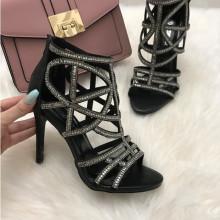 Sandale dama negre cu toc S17