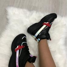 Adidasi dama negri cu platforma